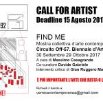 """""""Find me"""" Circuito Off-57.Biennale d'arte di Venezia"""