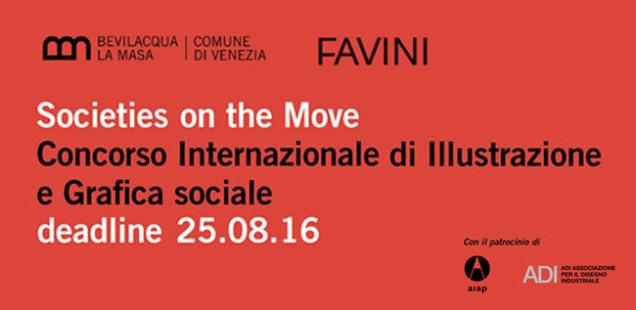 """""""Societies on the Move"""". Concorso internazionale di Illustrazione e Grafica sociale."""