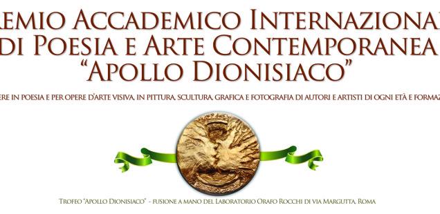 Premio Internazionale d'Arte Contemporanea Apollo dionisiaco Roma 2018.  L'Annuale del senso della bellezza dell'arte.