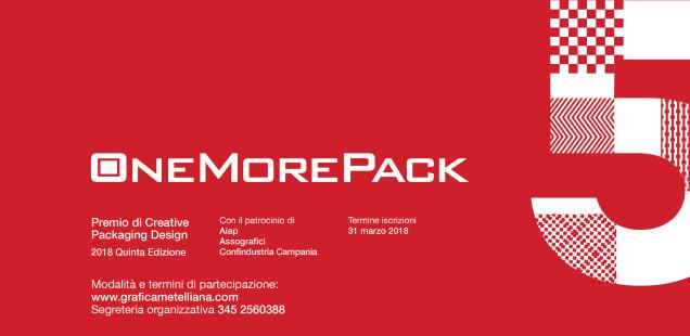 OneMorePack 2018, concorso di creative packaging design per professionisti e studenti