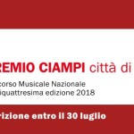Premio Ciampi Città di Livorno 2018 concorso musicale nazionale