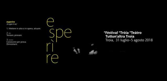 """Concorso Festival Troia Teatro 2018 - """"Premio Eceplast"""" VIII ed."""