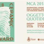 MCA2018 - Montelupo Ceramic Award