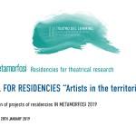In metamorfosi residenze per la ricerca teatrale BANDO RESIDENZE PER ARTISTI NEI TERRITORI