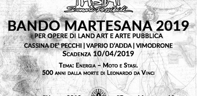 BANDO MARTESANA 2019 PER OPERE DI LAND ART E ARTE PUBBLICA