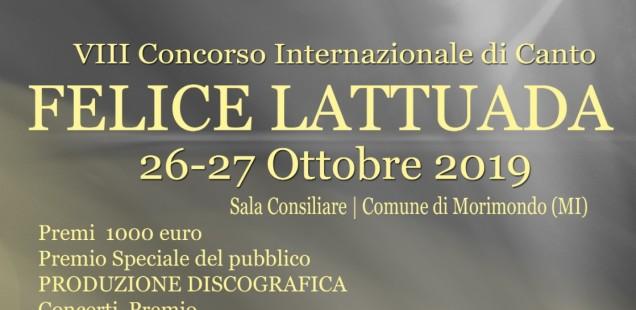 """VIII Concorso Internazionale di Canto Lirico """"Felice Lattuada"""""""
