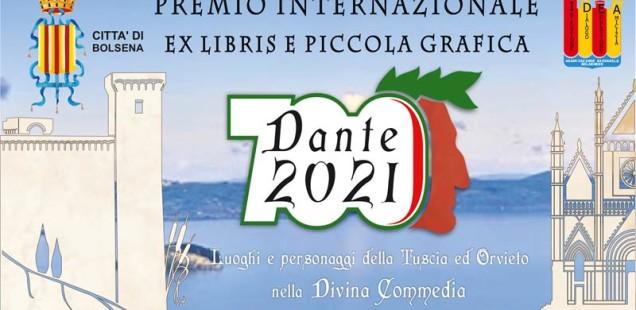 """Premio internazionale di Ex Libris e Piccola Grafica """"Dante 2021 - Luoghi  e  personaggi della Tuscia e di Orvieto nella Divina Commedia""""."""