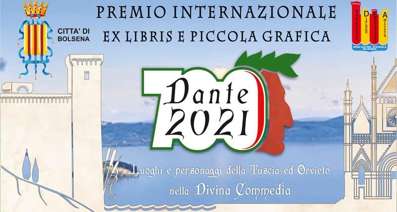 """Premio internazionale di Ex Libris e Piccola Grafica """"Dante 2021 – Luoghi  e  personaggi della Tuscia e di Orvieto nella Divina Commedia""""."""