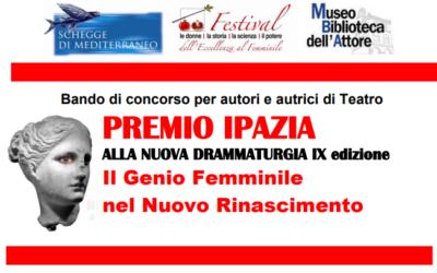 Premio Ipazia Nuova Drammaturgia 2021